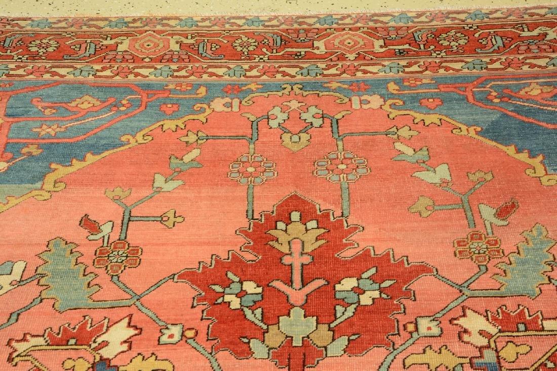 Large Fine & Unique Heriz 'Serapi' Carpet, - 4