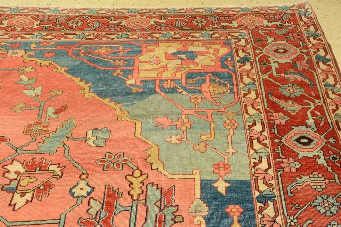 Large Fine & Unique Heriz 'Serapi' Carpet, - 5