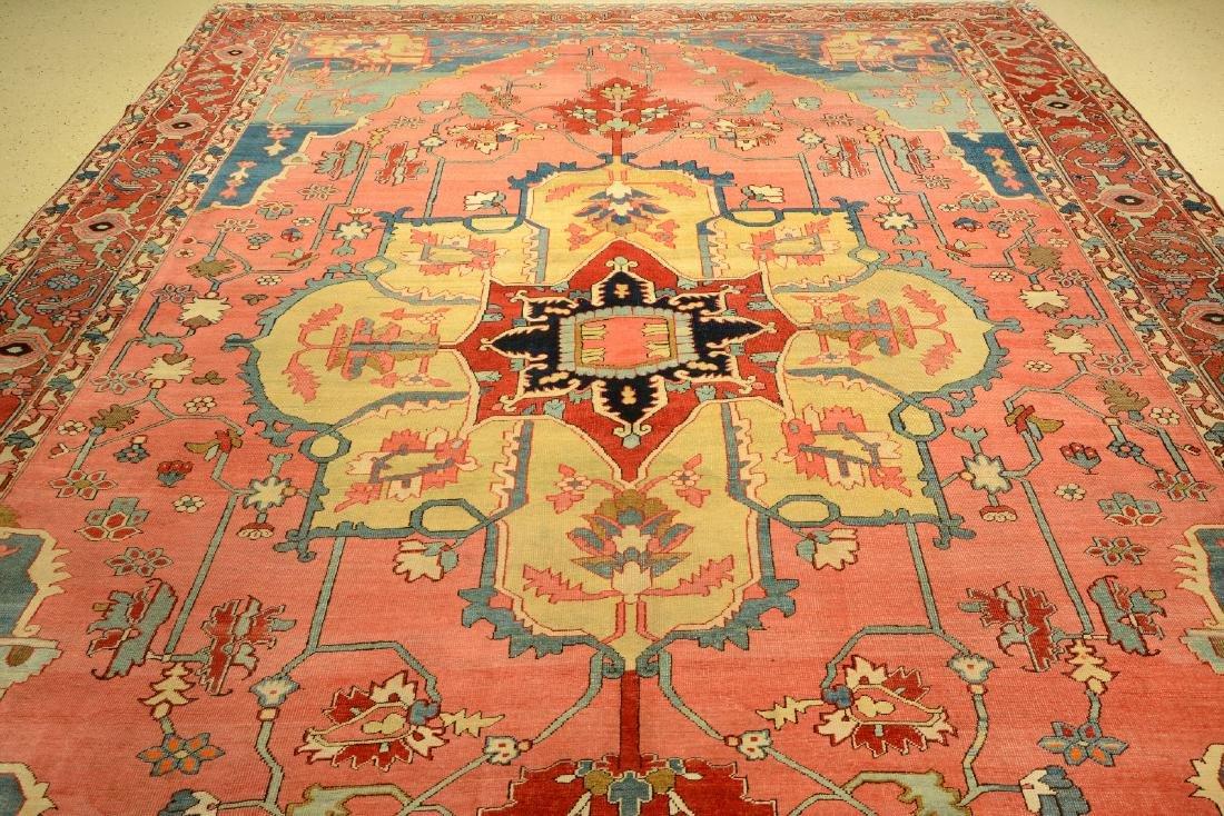 Large Fine & Unique Heriz 'Serapi' Carpet, - 6