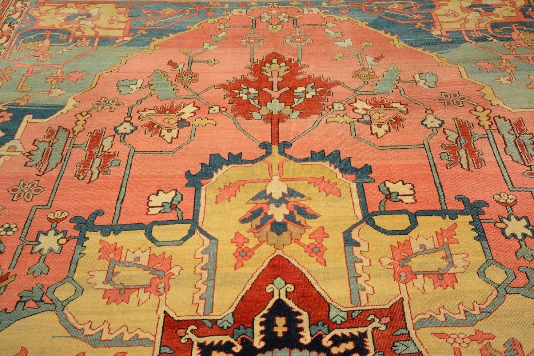 Large Fine & Unique Heriz 'Serapi' Carpet, - 7