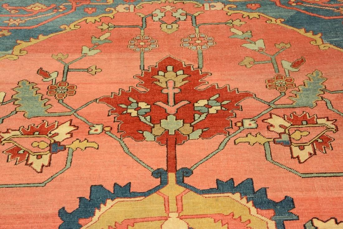 Large Fine & Unique Heriz 'Serapi' Carpet, - 8