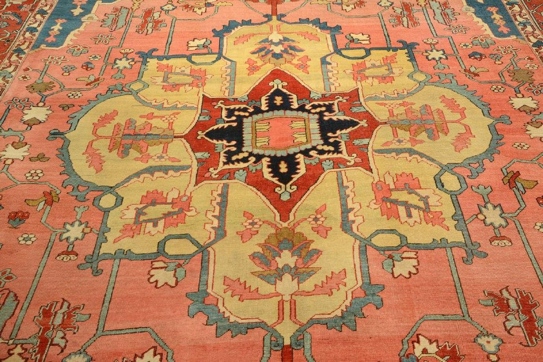 Large Fine & Unique Heriz 'Serapi' Carpet, - 9