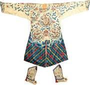 Silk & Metal-Thread Chinese 'Dragon-Robe'