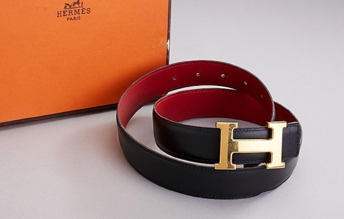 HERMES Belt, clasp metal