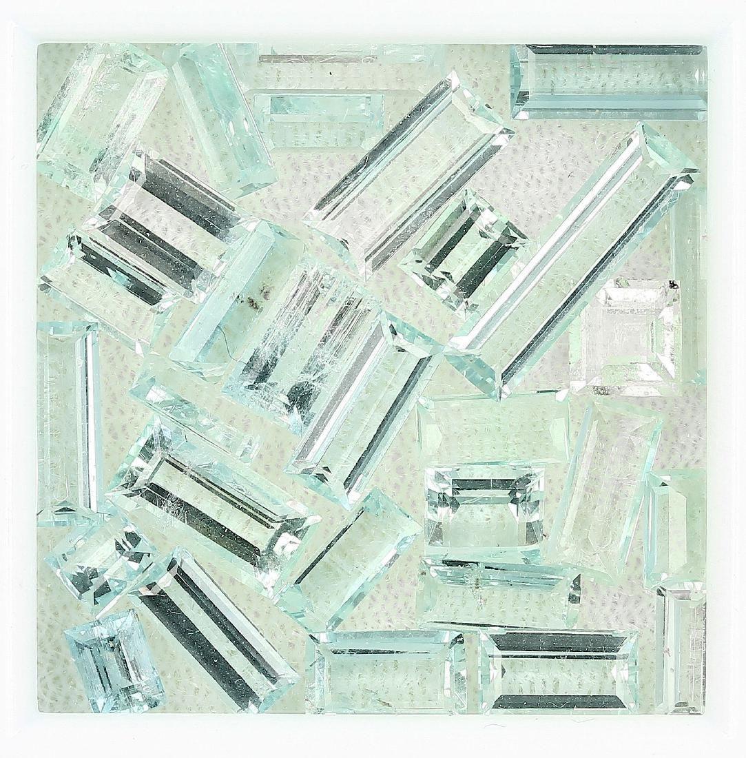 Lot loose aquamarines