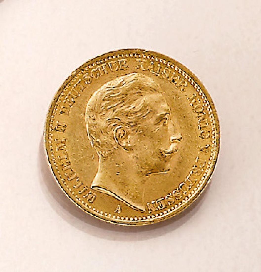 Gold coin, 20 Mark, German Reich, 1907