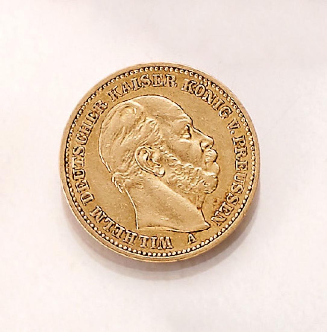 Gold coin, 20 Mark, German Reich, 1889