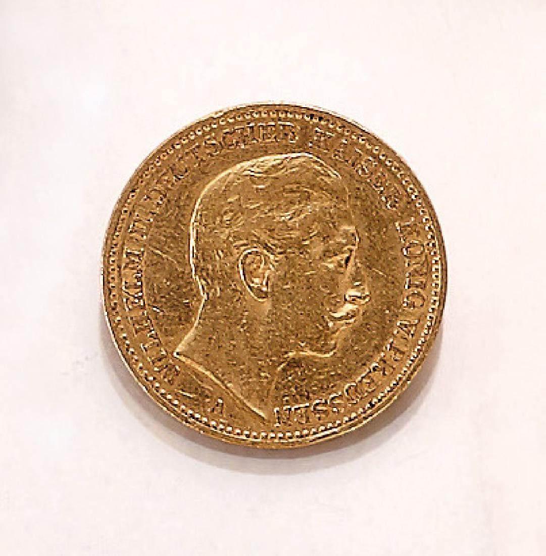 Gold coin, 20 Mark, German Reich, 1896