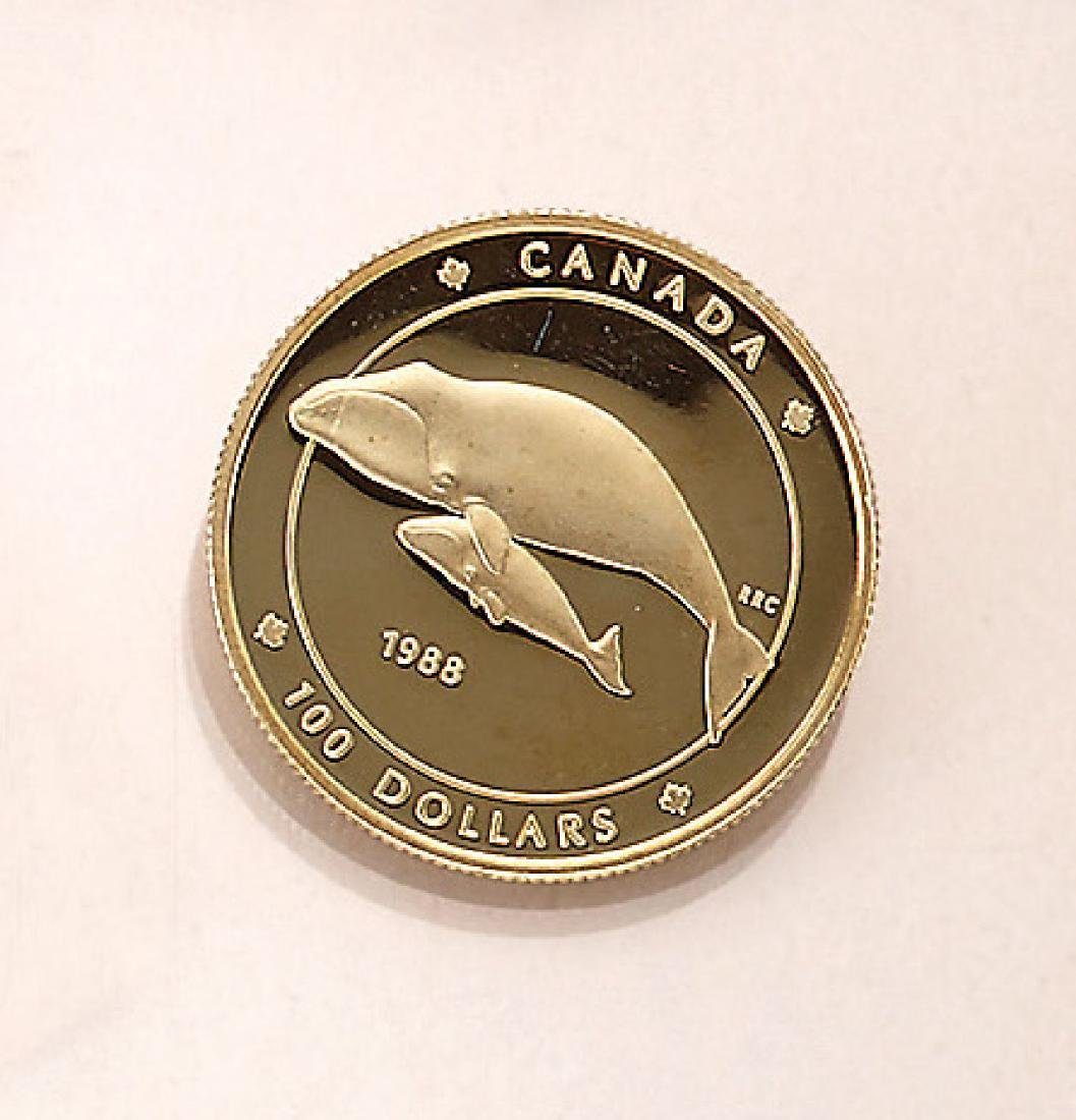 Gold coin, 100 Dollars, Canada, 1988