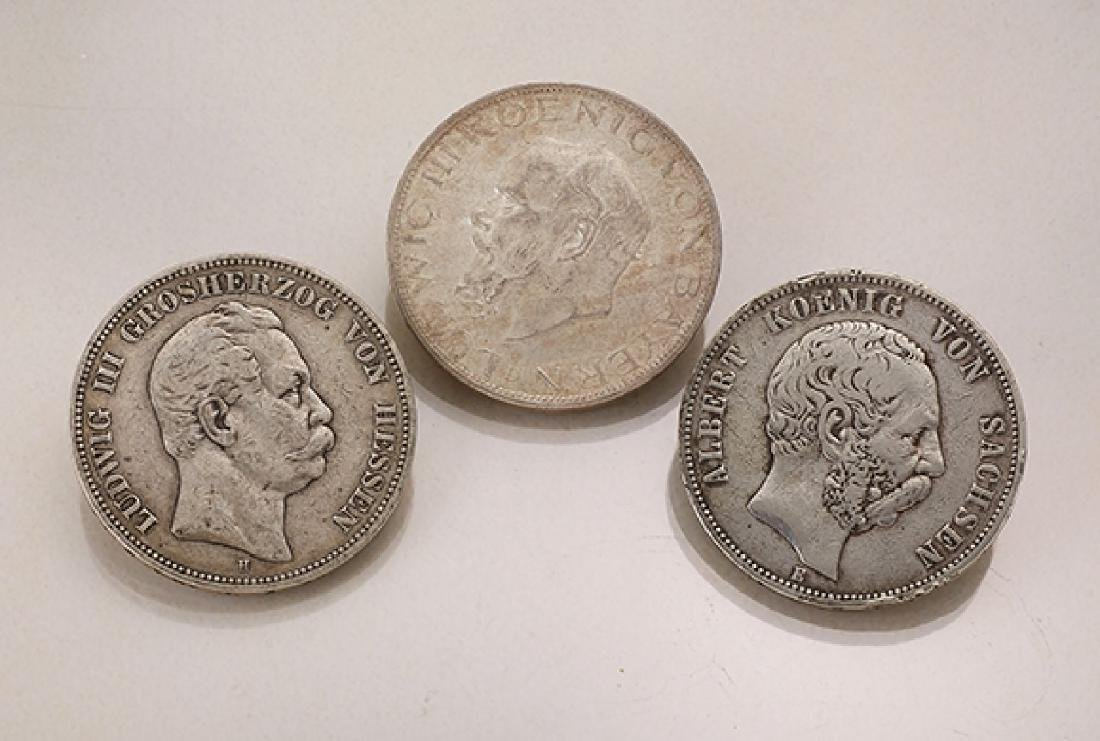 Lot 6 silver coins, German Reich