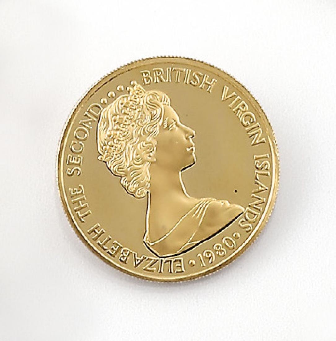 Gold coin, 100 Dollars, British Virgin Islands, 1980