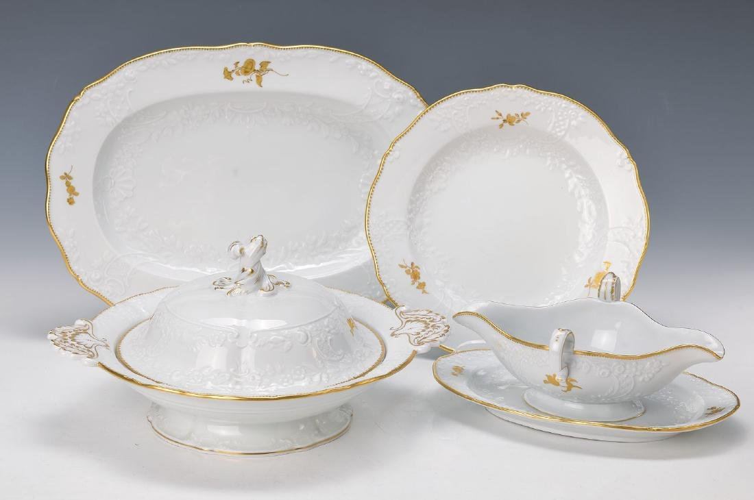 Dinner set for 12 people, Meissen, 20th c., 2.choice,