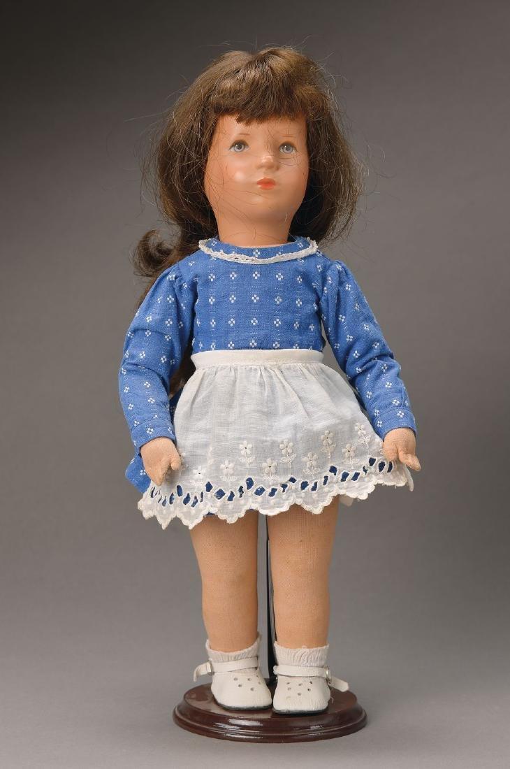 Käthe Kruse doll, 1960s, Tortulon head with orig