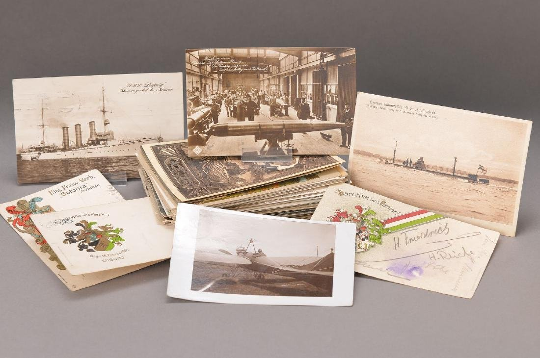 collection of 97 postcards, German, around 1895-1920