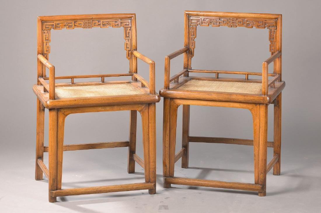 pair of armchairs, probably China, 1. H. 20th c