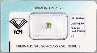 Loose cushioncut diamond
