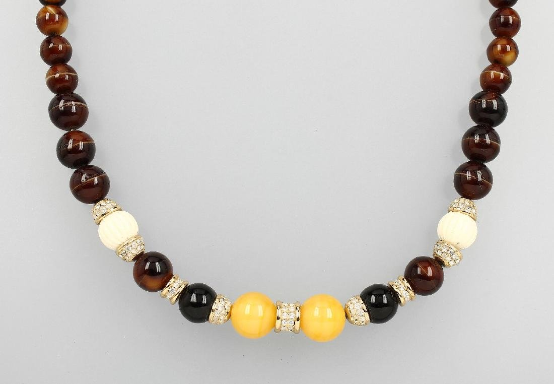 CHRISTIAN DIOR necklace, approx. 1970s #, glass
