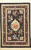 Very Fine Silk Qum 'Mehdi Sadeghzadeh' Rug (Safavid