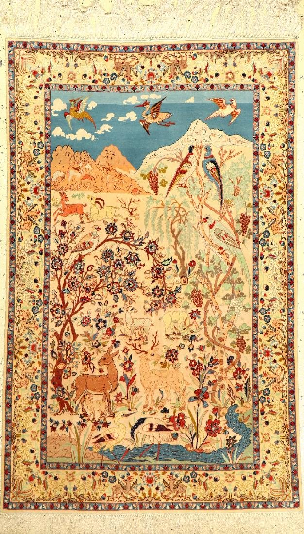 Fine Isfahan 'Pictorial Rug',