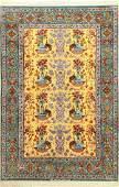 Fine 'Silk Ground' Isfahan 'Abdolreza Nasr' Rug