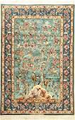 Fine & Unique 'Silk Ground' Isfahan 'Pahlevan'Rug