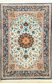Fine Sky-Blue 'Silk Ground' Isfahan 'AbdolrezaNasr' Rug