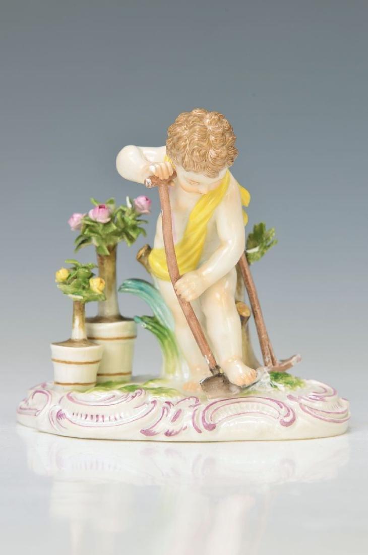 figurine, Meissen, around 1870, cupid as gardener, of