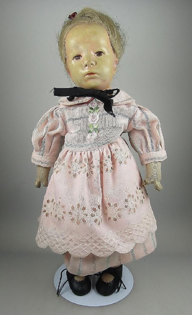doll Käthe-Kruse, 1930s, small german child, blonde