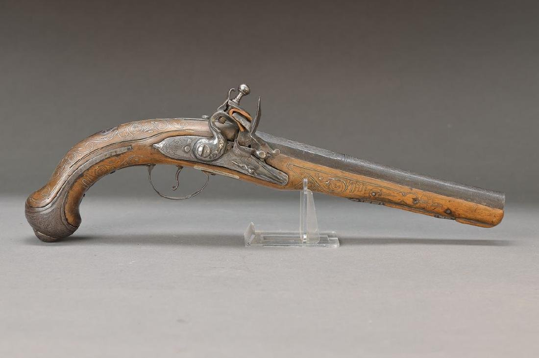 Flintlock pistol, Turkey, Ottoman, around 1800, wood