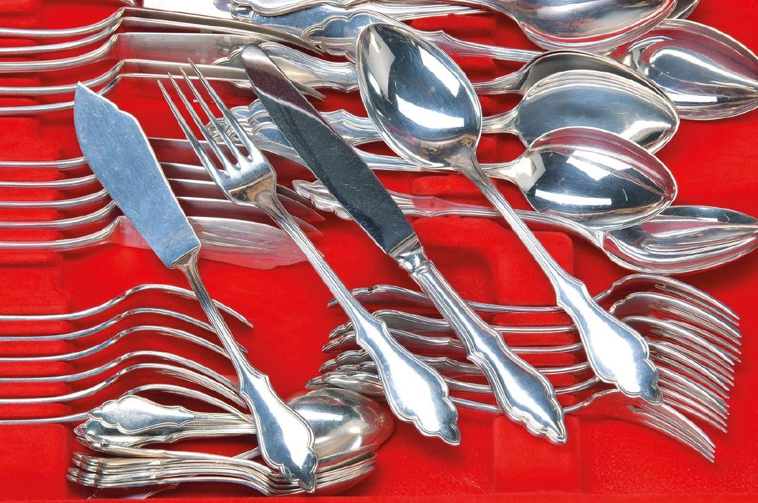 74 parts cutlery, Robbe & Berking, 800 silver,12 knives