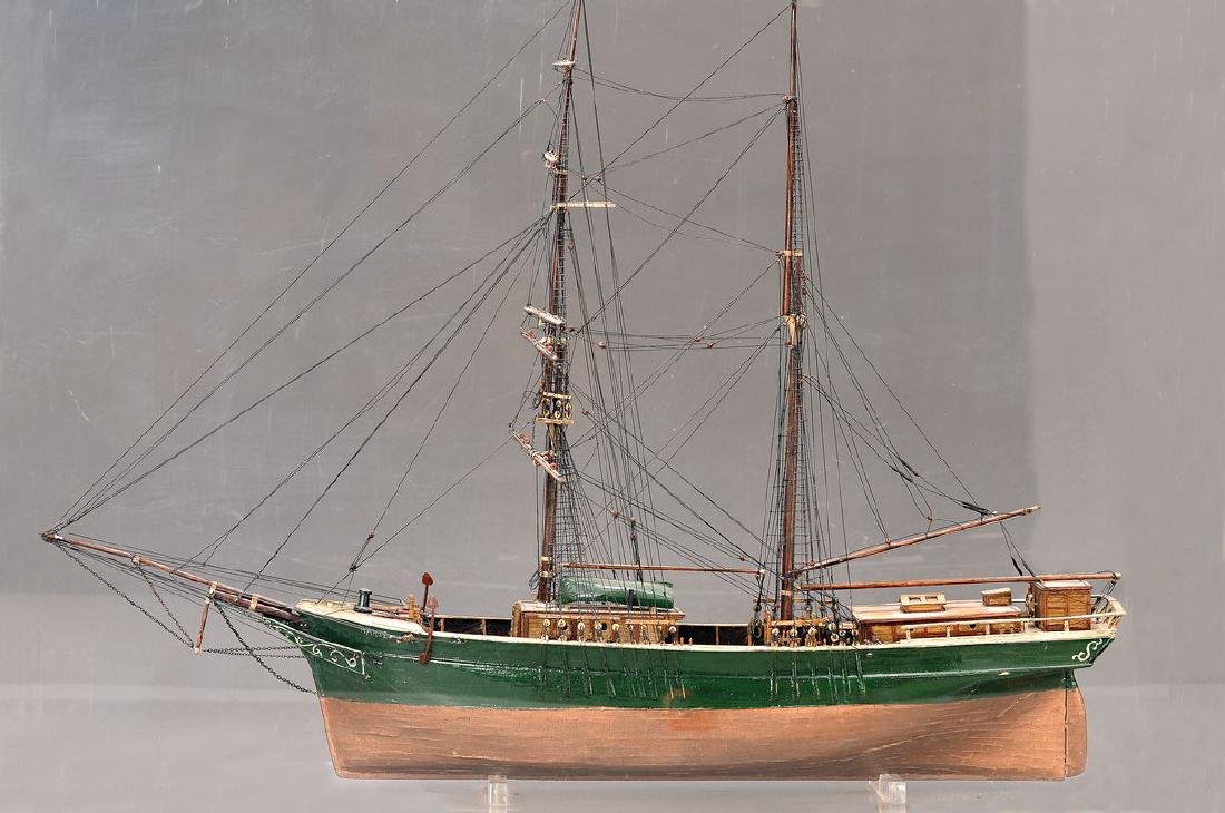 Model of a sailing ship, after model of the 1920s, wood