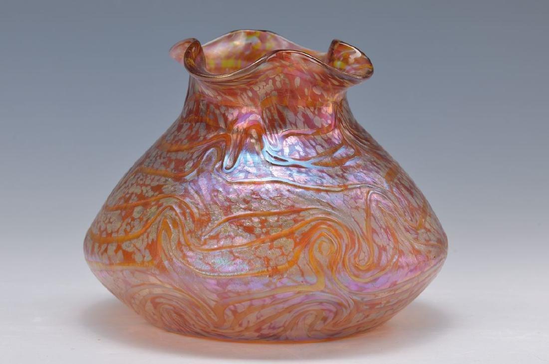 vase, Lötz, around 1900-05, glass blown into the mold