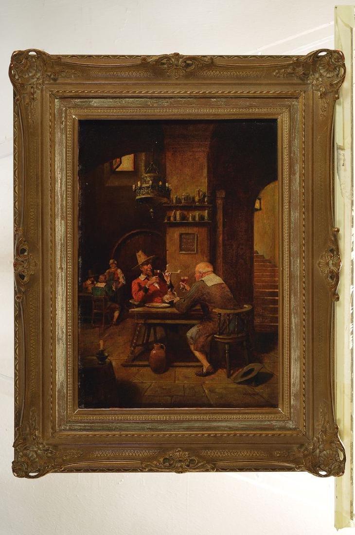 Albrecht (Albert) Kurz, 1858 - 1929, in tavern, oil - 3