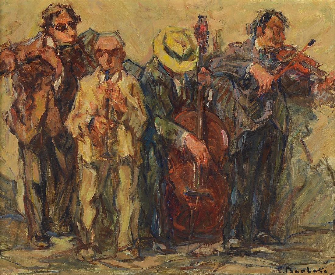 Vincento Barbato, 1866 - 1968, band, oil / painting
