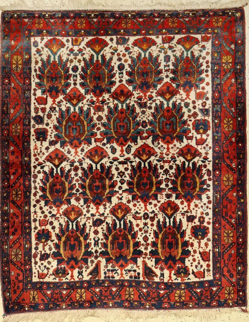 Afshar Rug, Persia, around 1940/50, wool on cotton