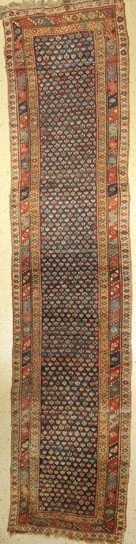 Kurdish Runner, Persia, around 1900, wool on wool