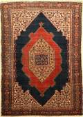 Senneh Rug, Persia, around 1900, wool on cotton
