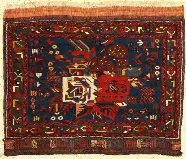Afshar Bagface, Persia, around 1940, wool on wool