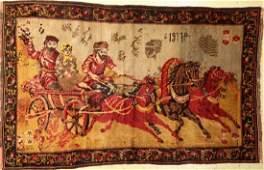 Karabagh Rug (tapestry), Caucasus, dated 1917., wool