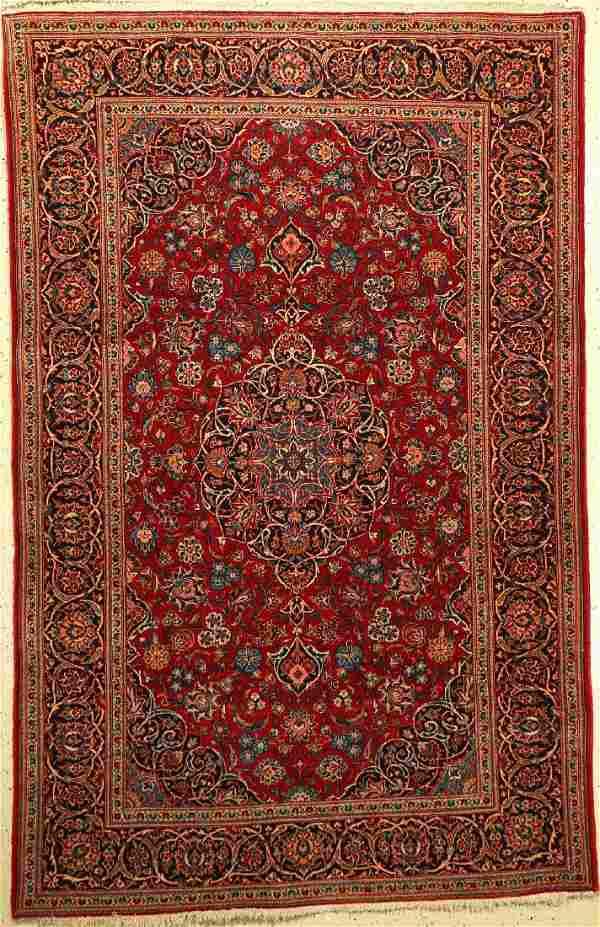 Kashan Rug, Persia, around 1950, wool, approx. 207 x