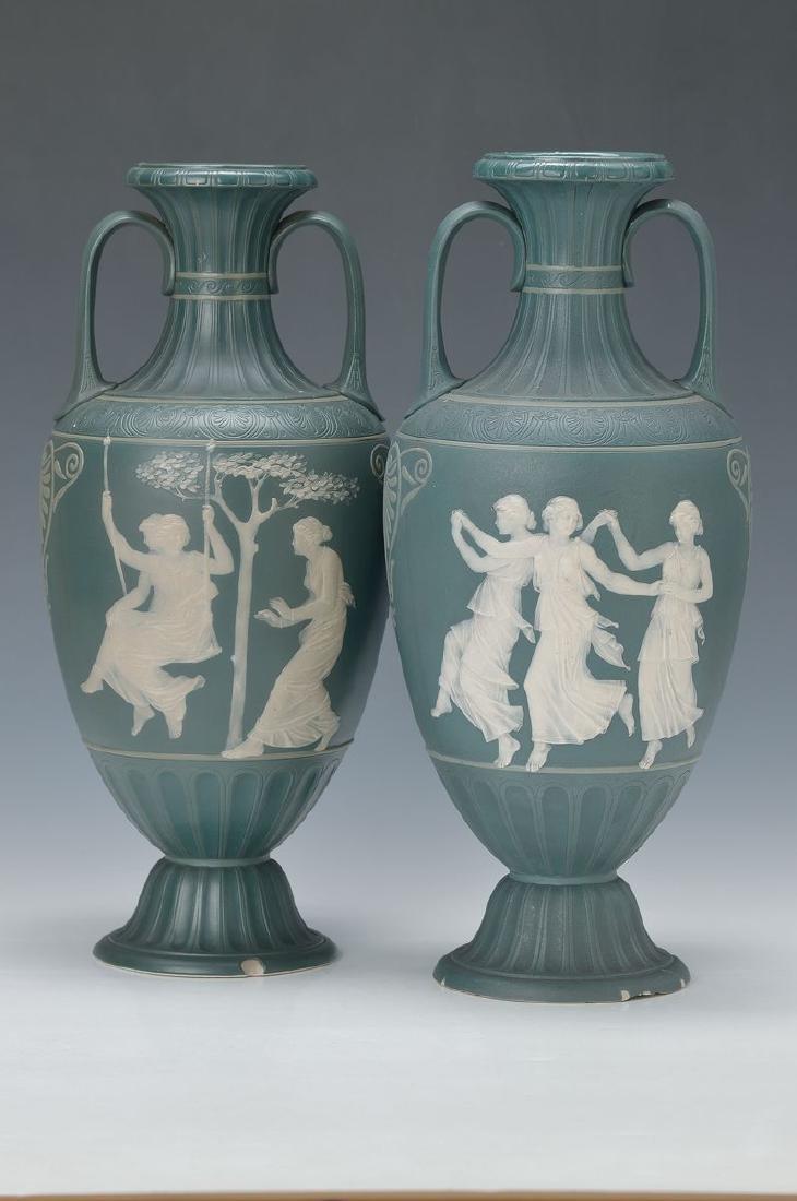 Pair of vases, Villeroy & Boch Mettlach, around