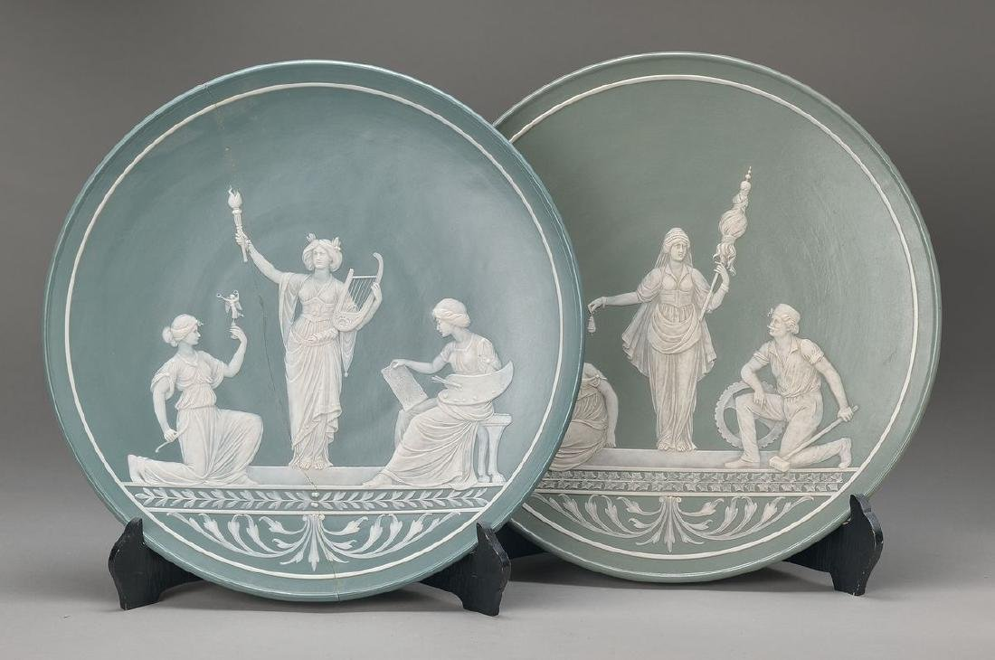 pair of large plates, Villeroy & Boch Mettlach