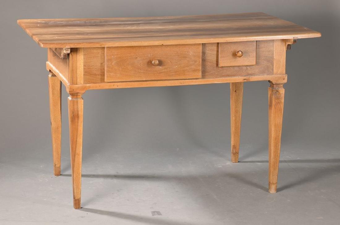 peasant table, Baden, around 1820/30, walnut massive