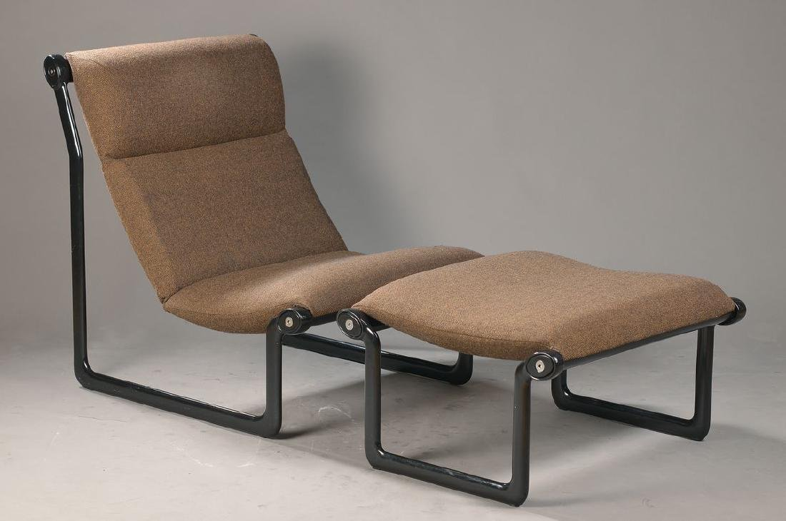 Lounge chair with Ottoman, designed by Hannah &