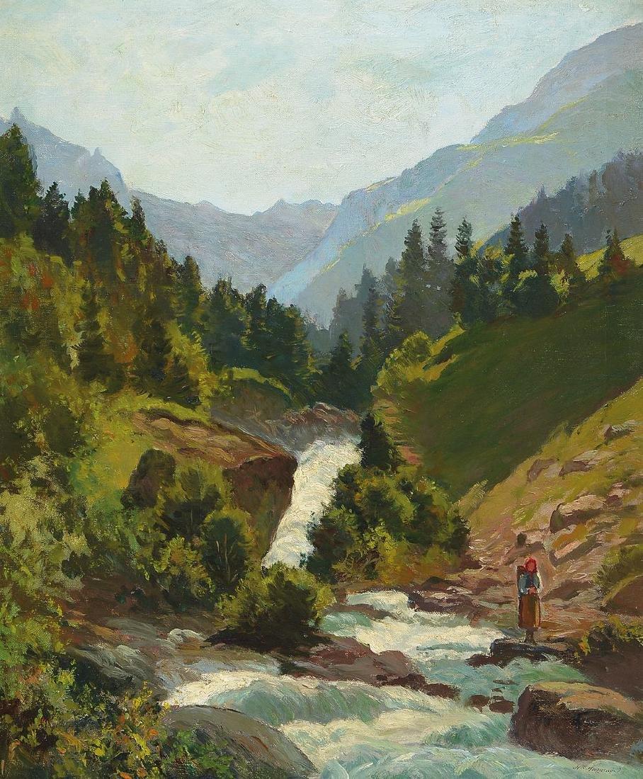 Henry Edouard Huguenin, 1878-1958, mountainouslandscape