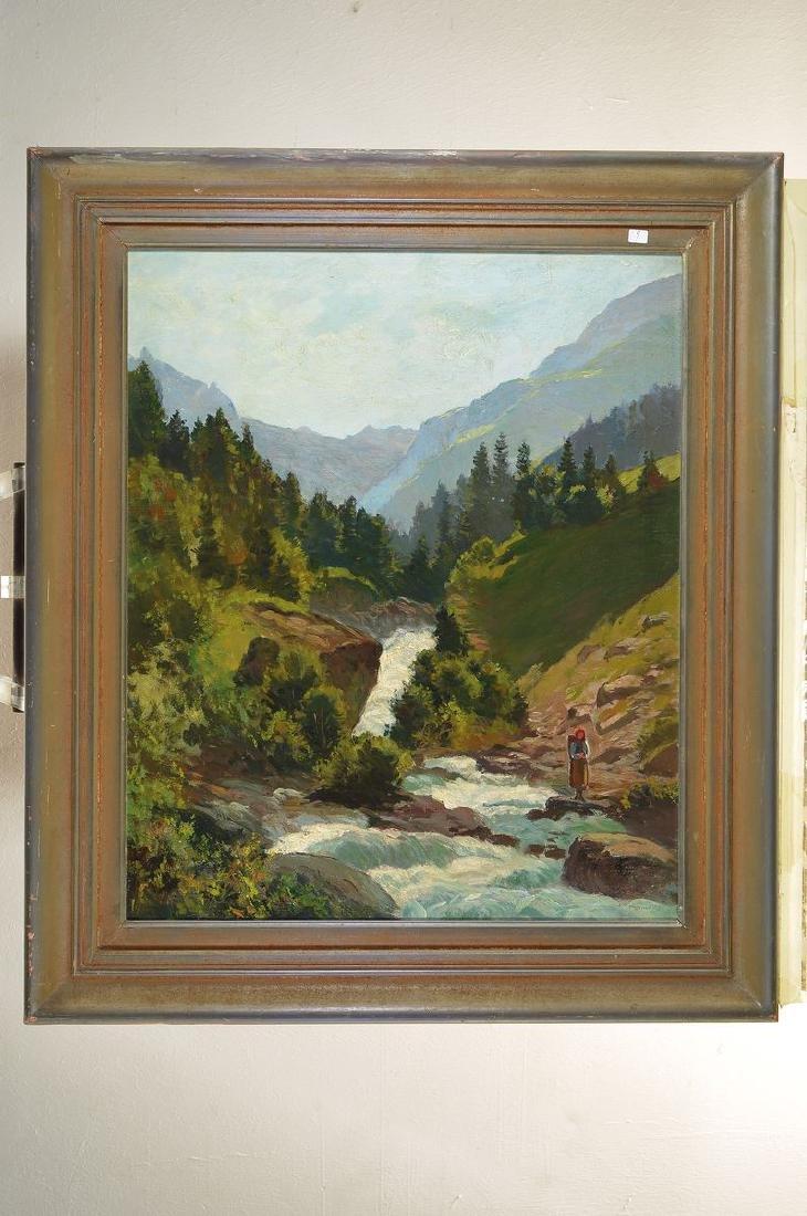 Henry Edouard Huguenin, 1878-1958, mountainouslandscape - 3