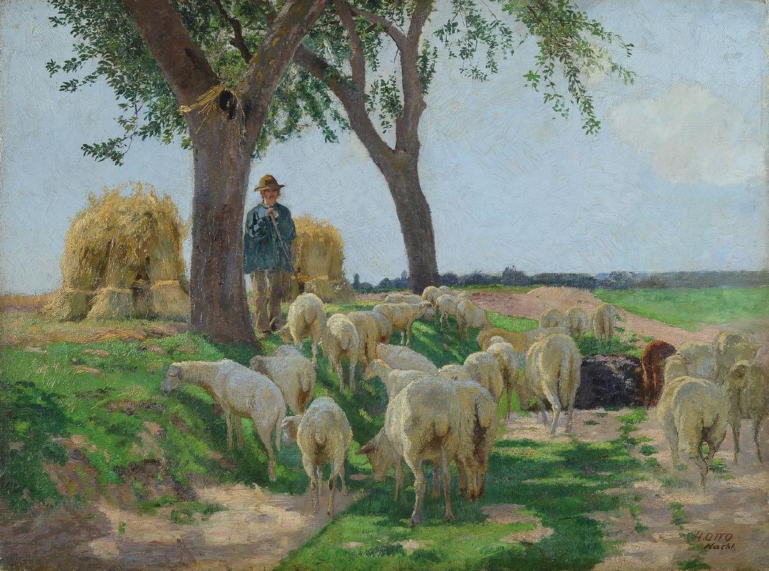 Heinrich Otto, 1858 Wernswig-1923 Dusseldorf, Studies