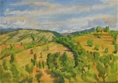 Eugen Spiro, 1874 Wroclaw 1972 New York, wide hilly