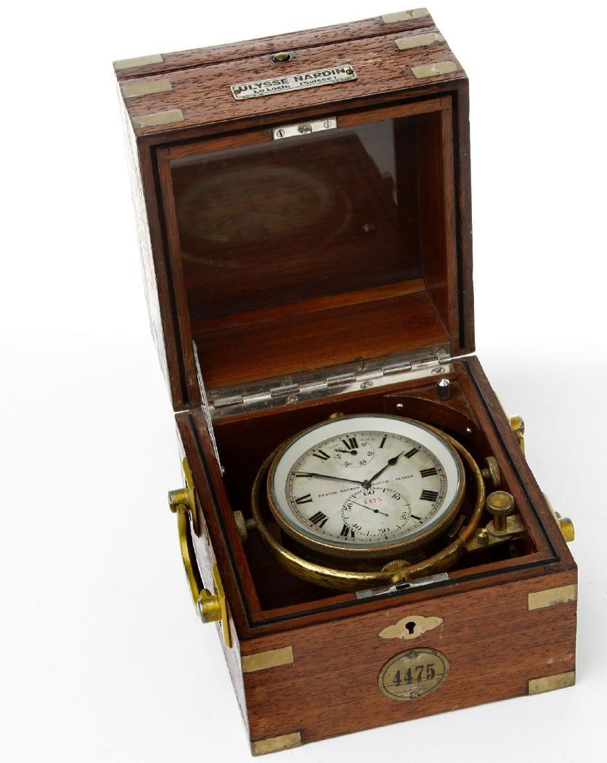 ULYSSE NARDIN rare ship´s chronometer no. 4475