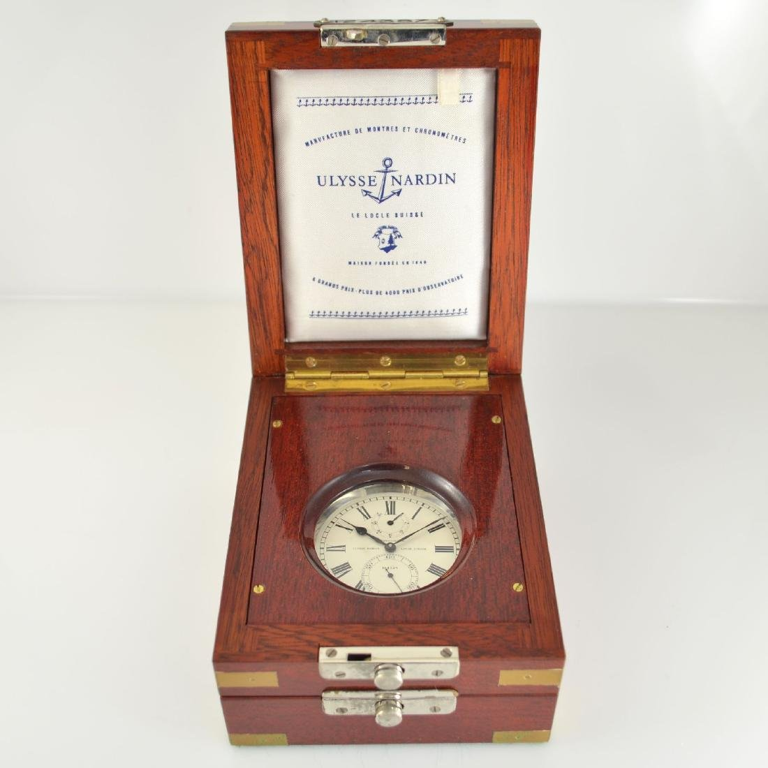 ULYSSE NARDIN rare deck watch with seconds-contact